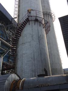 烟囱安装旋梯和平台